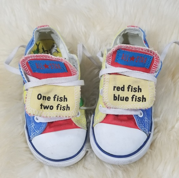 Kid's Dr. Seuss 1 Fish 2 Fish Red Blue Converse